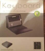 Keyboard For Ipad, Black, Universal, Quality. Leather Lined Built-in Case.(bin7)