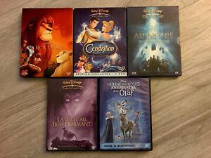 Lot-DVD-Disney-Roi-Lion-Cendrillon-Atlantide-Olaf-Belle-Bois-Dormant