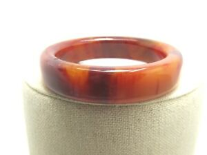 Vintage-Bakelite-Bangle-Bracelet-Amber-Yellow-End-of-Day-7-75-034-5-8-034