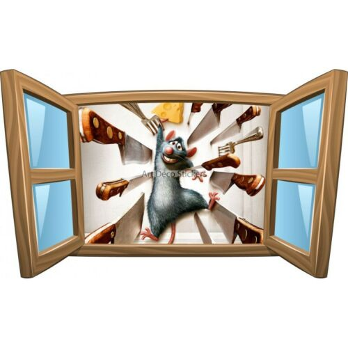 Sticker enfant fenêtre Ratatouille réf 958 958