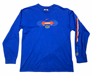 Vintage-90s-Florida-Gators-Nike-Mens-Long-Sleeve-Crew-Neck-Jersey-Blue-Size-M