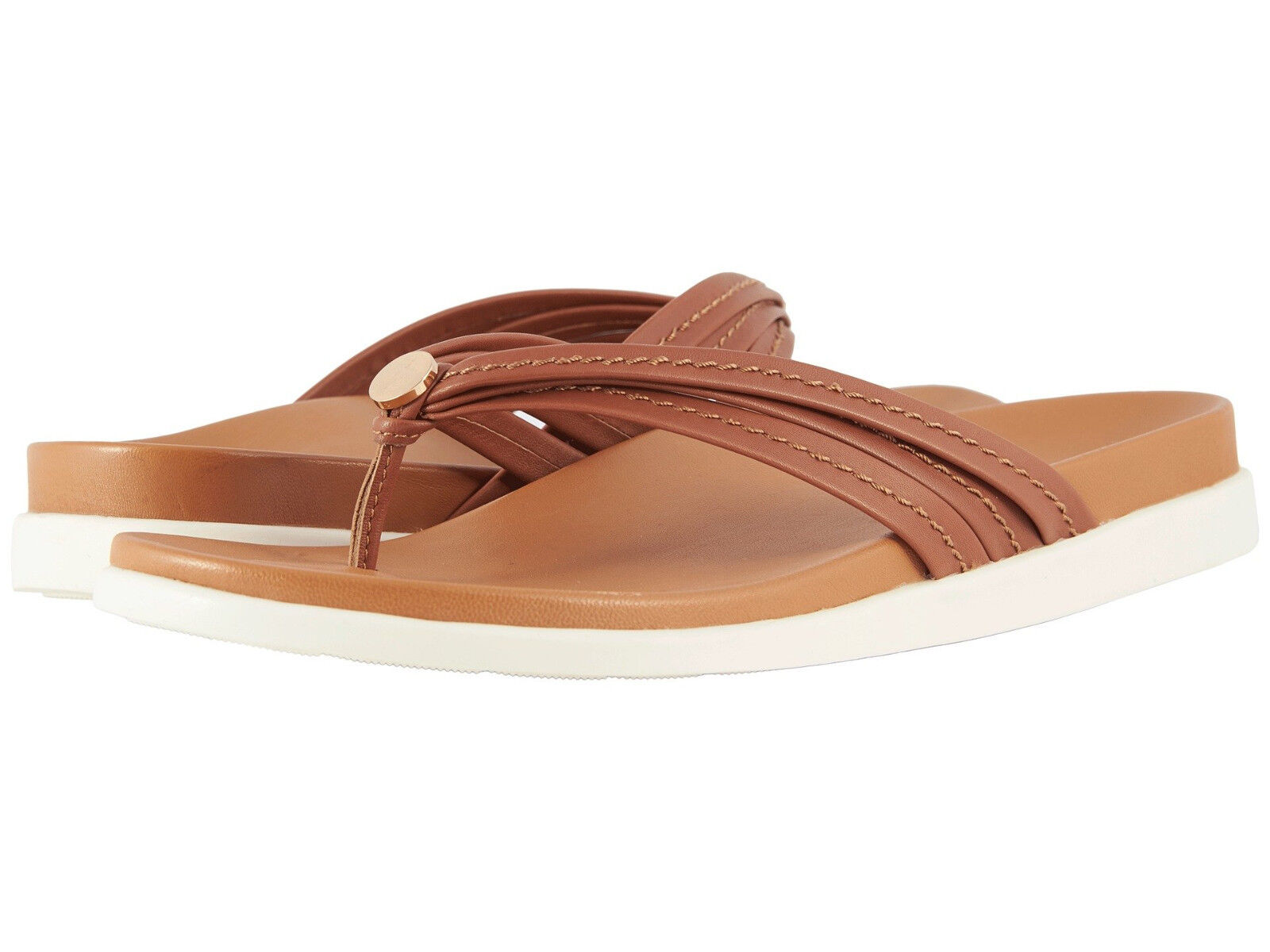 donna Vionic Catalina Flipflop Sandal Palm Catalina Tan Tan Tan 100% Authentic New 437d12