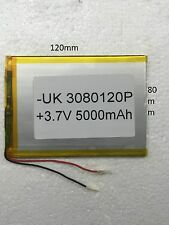 3080120P 5000 mAh 3.7v-80mm x 120mm For Tablet Tab Pc digital Device Etc.