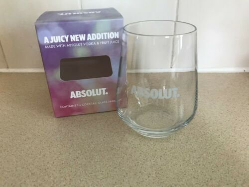 ABSOLUT VODKA GLASS//TUMBLER