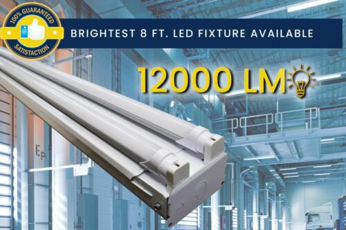 Garage Warehouse 8ft Commercial LED Shop Light Fixture Storage Area 4500K