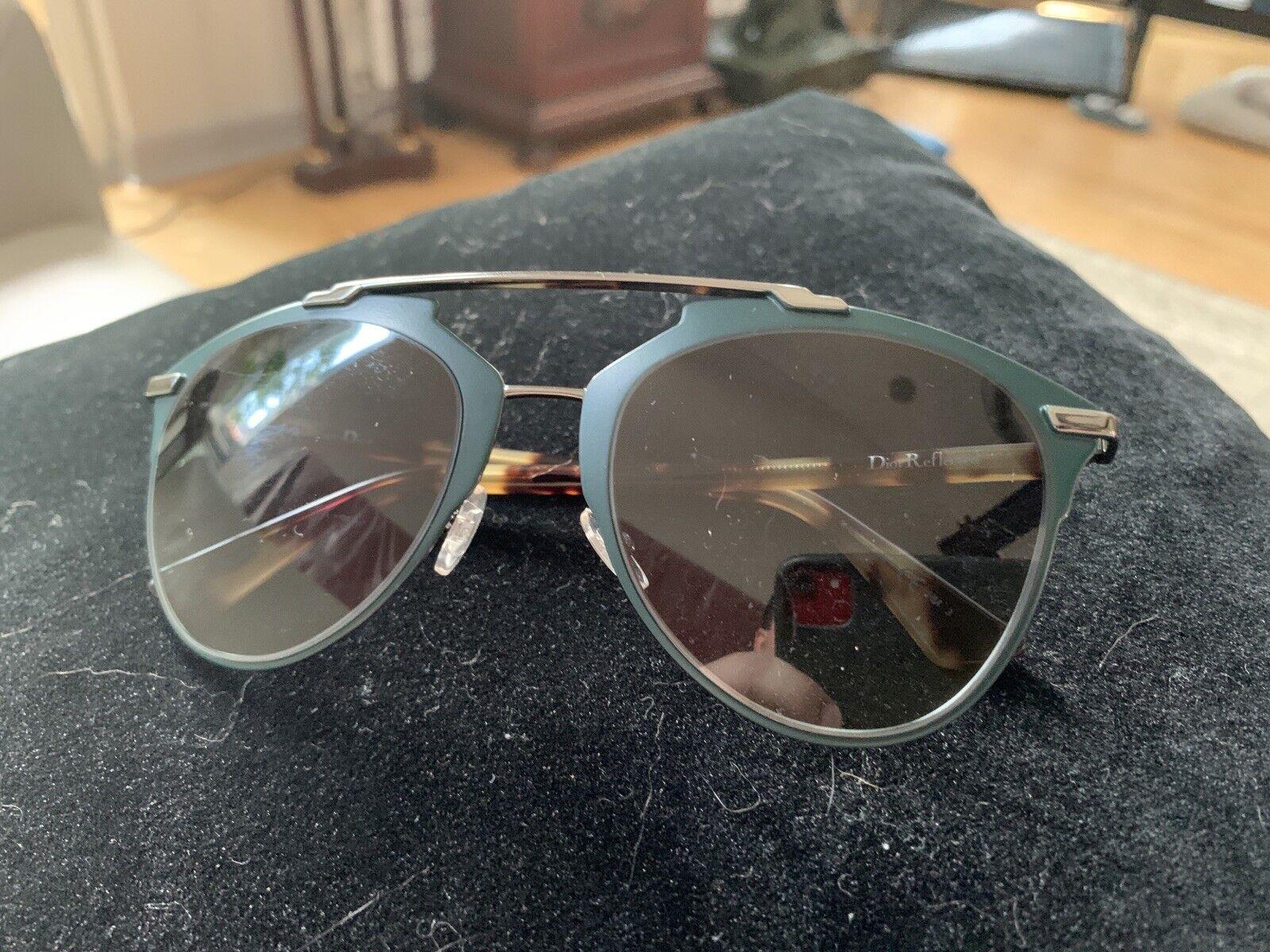 Christian Dior REFLECTED PVZ/HD Matte Green Silver Havana Grey Sunglasses