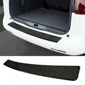 For VW T6 Transporter Rear Bumper Protector Guard Trim Cover Steel Black Sill