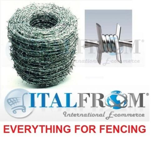 500mt GALVANIZED BARBED WIRE FOR WIRE MESH FENCING WIRE 1.8mm