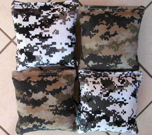 corn hole Khaki Digital /& Black /& White Camo Set of 8 free ship Cornhole Bags