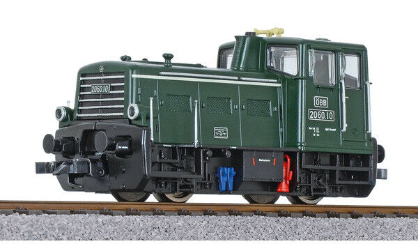 Liliput l 132480 scale h0 diesel locomotive, 2060.10, green, öbb, epoque IV dc