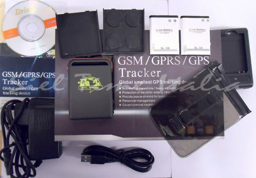 GPS GSM GPRS LOCALIZZATORE SATELLITARE TRACKER ANTIFURTO TK 102 TK102 NUOVO!