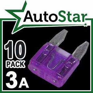 3-Amp-MINI-Blade-Fuses-x-10-APM-ATM-Automotive-Fuse-Pack-3A-3Amp-A-KIT-CAR