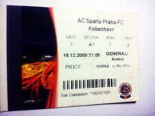 used ticket SPARTA Prague - FC COPENHAGEN 16.12.2009