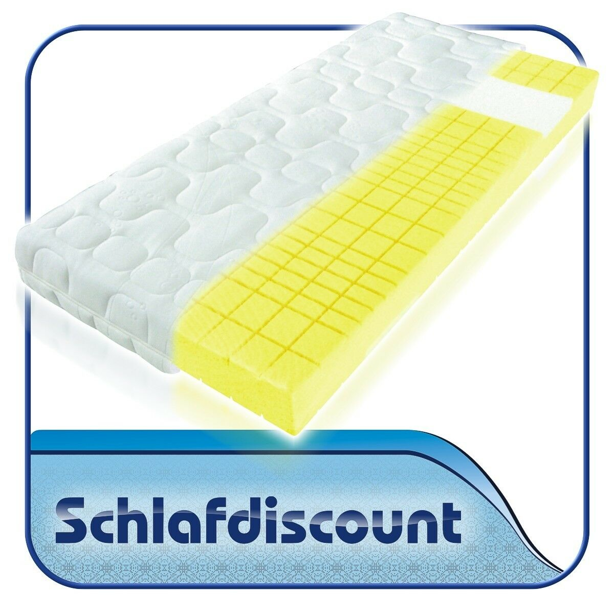 7-Zonen Kaltschaummatratze 180x200cm H4 - ideal für Seitenschläfer, Schulterzone