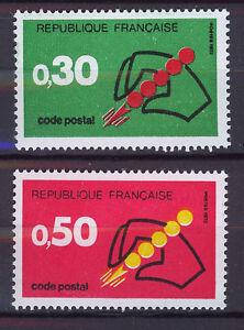 FRANCIA-FRANCE-1972-MNH-SC-1345-46-Postal-code-system