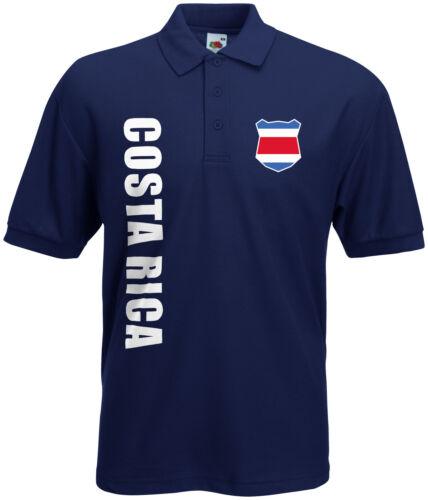 WM 2018 Costa Rica Polo-Shirt Trikot Name Nummer