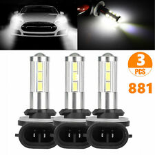 3x 881 Led Fog Driving Drl Light Bulbs 881l 881x 889 894 896 6000k Super White