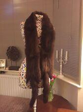 Vintage Brown Mink Real FUR Boa Scarf Stole Bolero Shrug Taxidermy Tails & Feet