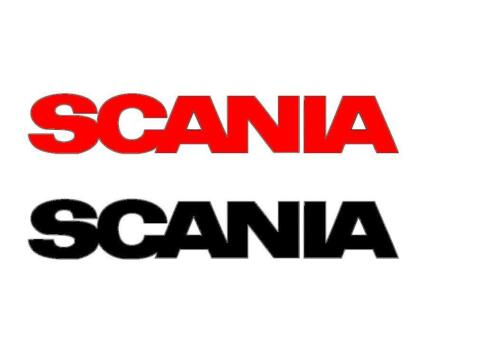 2 x SCANIA STICKERS DECAL 480mm x 90mm  IN VARIOUS   COLOURS  TRUCK LORRY