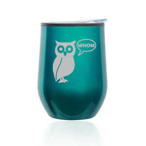 Stemless Wine Tumbler Coffee Travel Mug Glass Cup w// Lid Chillin Penguin Funny