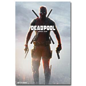 "Deadpool Heroes  Movie Art Silk Fabric Poster For Room Decor 13x20 24x36/"" 002"