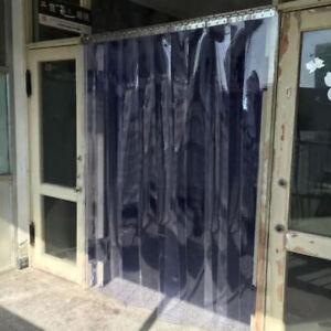 Freezer Room PVC Plastic Strip Curtain Door Strip Kit Hanging Rail