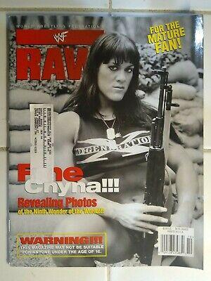 WWF Raw Magazine My Name Is Eugene Signed Cover Sept 2004