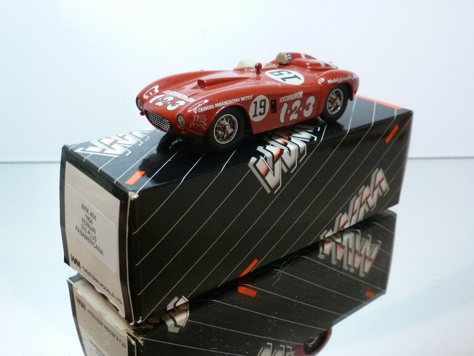 WESTERN MODELS WRK40X FERRARI 375 PLUS PANAMERICA - rojo 1 43 - EXCELLENT IN BOX