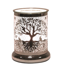 Cylinder-Tree-of-Life-Electric-Wax-Warmer-Burner-amp-10-Scented-Melts-3165