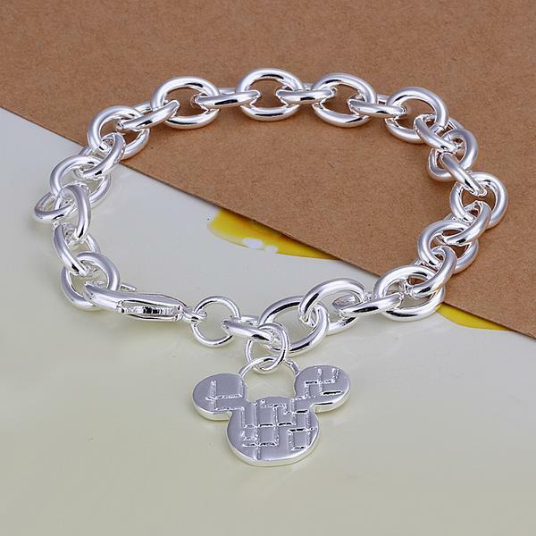 Fashion Jewelry 925 Sterling Silver Charm Mickey Chain Bracelet For Women Gift