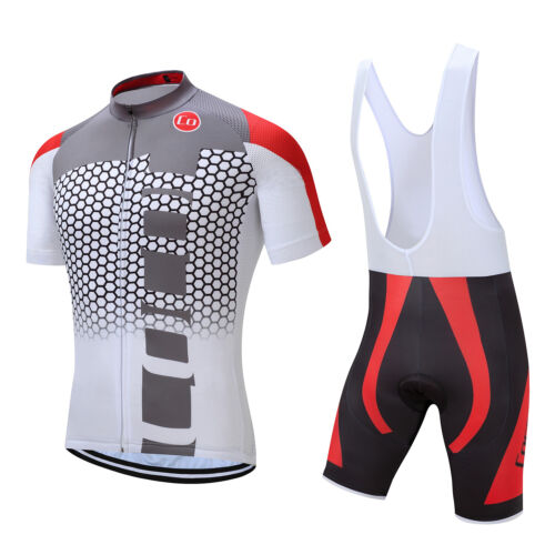 Fashion Design New Quick Dry Bike Cycling Short Sleeves Jersey Bib Shorts Set