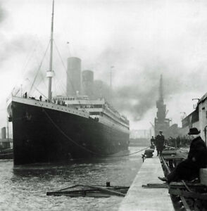 RMS-Titanic-at-Southampton-11-x-14-034-Photo-Print