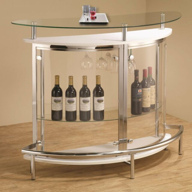 Home Bar Furniture Wine Mini Accessories Half Moon Table Decor Counter Height For Online Ebay