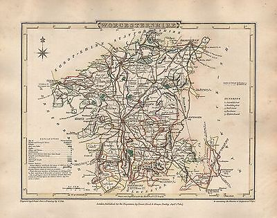 1816 County Map G Cole & J Roper : Worcestershire