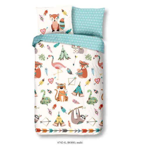 Good Morning Kinder Bettwäsche Set Boho 140x200//220cm Bettbezug Kissenbezug