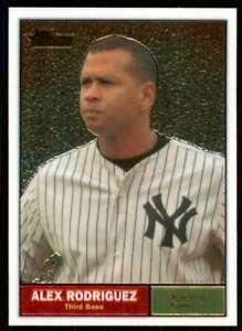 2010 Topps Heritage Chrome #/1961 Alex Rodriguez Yankees #C6