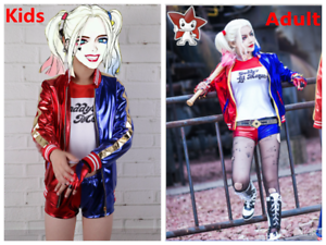 Girls cosplay suicide squad harley quinn costume kids fancy dress image is loading girls cosplay suicide squad harley quinn costume kids solutioingenieria Image collections