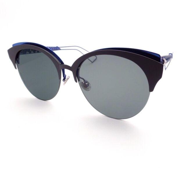 3ec913505bc Christian Dior Diorama Club G5V2K Matte Black Blue New Sunglass Authentic
