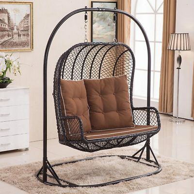Prime Grosse Doppel Egg Chair Swing Weidenkorb Rattan Hange Garten Terrasse Innen Aussen Ebay Unemploymentrelief Wooden Chair Designs For Living Room Unemploymentrelieforg