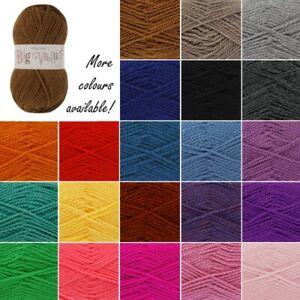 King-Cole-Big-Value-Chunky-Wool-Yarn-Knitting-100-Premium-Acrylic-100g