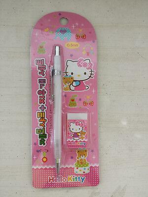 Sanrio Hello Kitty Mechanical Pencil 0.5mm /& Eraser Set Light Pink