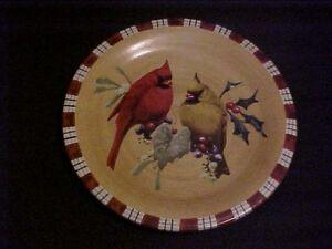 Lenox winter greetings everyday cardinal salad plate ebay image is loading lenox winter greetings everyday cardinal salad plate m4hsunfo