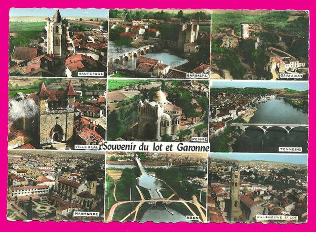 CPSM-47- Lote y Garonne - ( Postal- varias vistas )