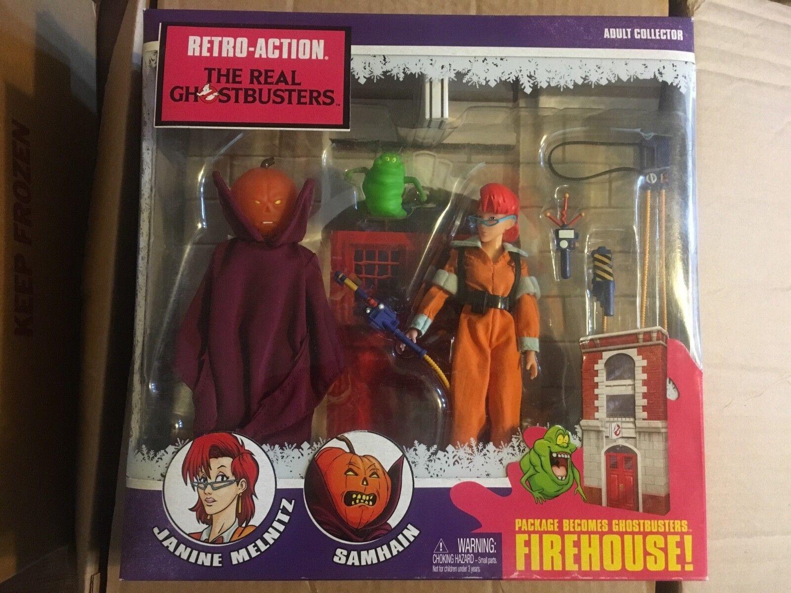 Mattel Retro-Action The Real GHOSTBUSTERS Firehouse Janine Melnitz Samhain  NIB