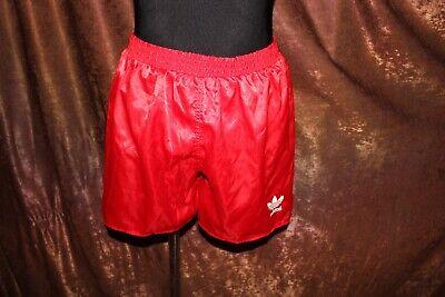 Bellissimo Vintage Adidas Anni'80 Football Shorts Rosso (nlv)-mostra Il Titolo Originale Ricco Di Splendore Poetico E Pittorico