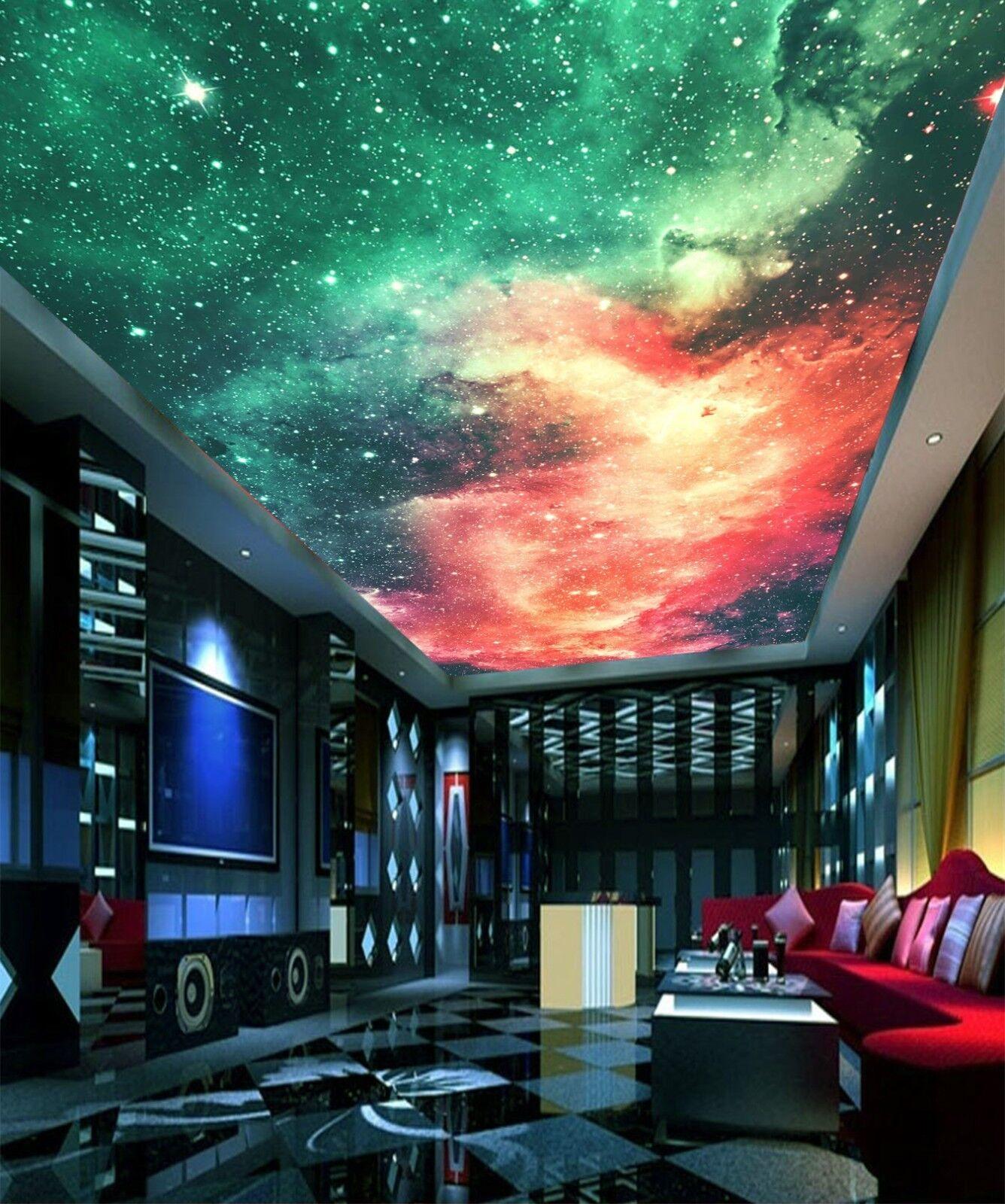3D Bright Starry Sky 4 Ceiling Wall Paper Print Wall Indoor Wall Murals CA Jenny