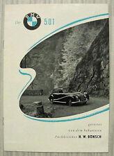 BMW 501 Car Publicity Brochure Dec 1953 ADAC MOTORWELT Reprint GERMAN TEXT