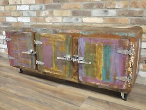 Credenza Industrial Fai Da Te : Retro vintage industrial sideboard fridge style door