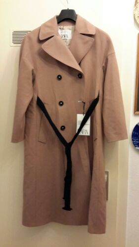 Mantel Zara Trenchcoat Rosa Trench Coat Studio Braun Xs Wolle Zweireihig 2017 s Nny0Ov8mw