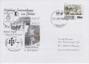 Le-Castor-Postal-Magdeburg-800-Annees-Loberitz-2007-Sonderbeleg